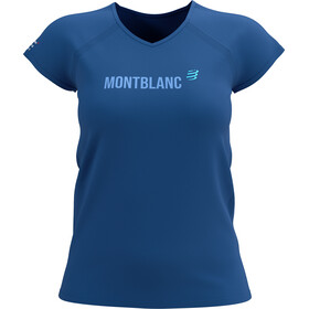 Compressport Training SS T-Shirt Mont Blanc 2021 Women, niebieski